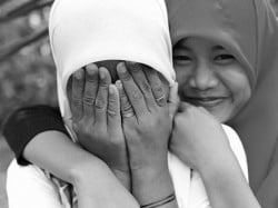 smile girl shy