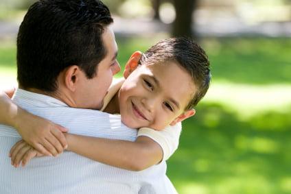 dad hug